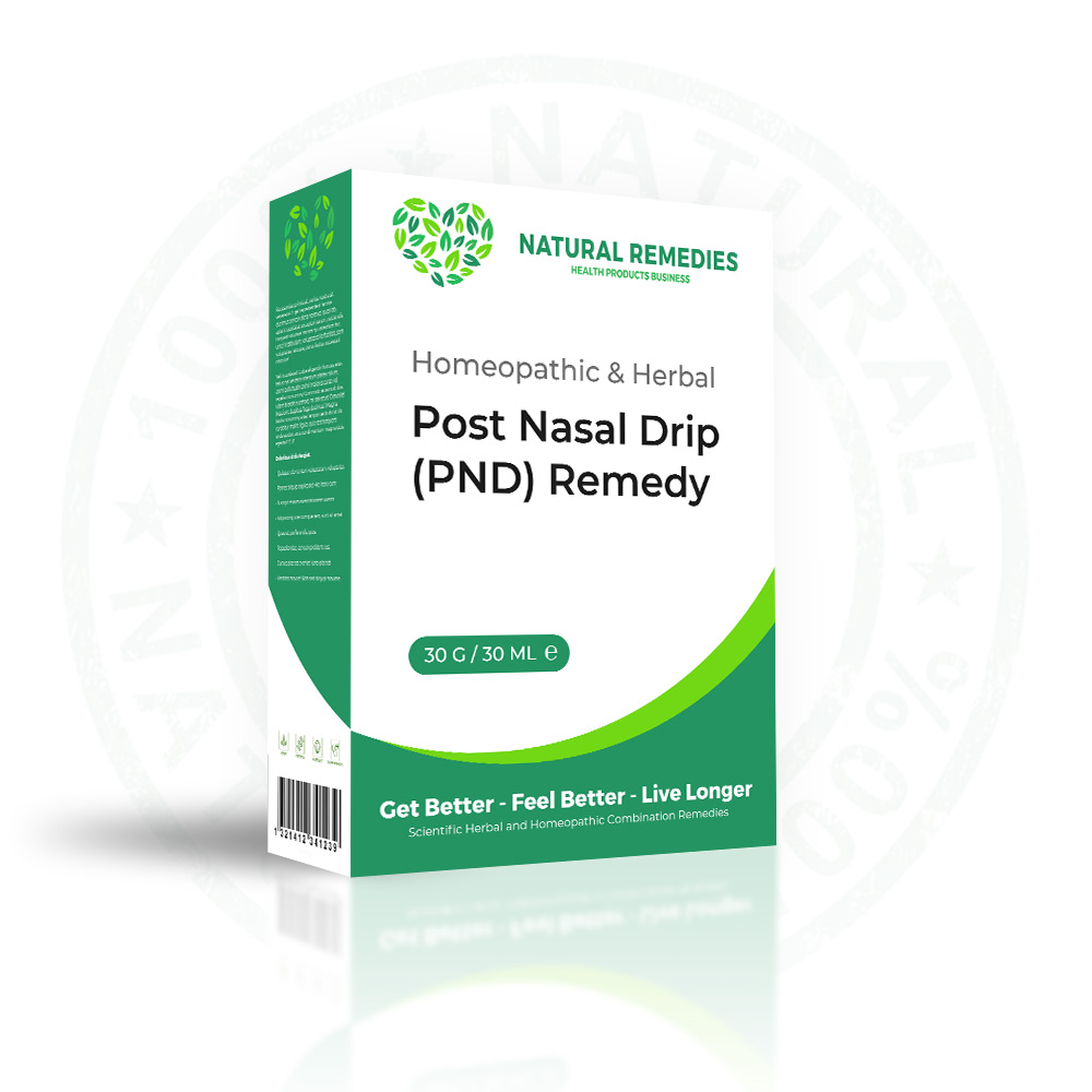 Homeopathic Remedy for Post Nasal Drip (PND)